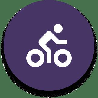 bicycle icon purple