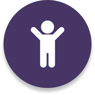 child purple icon