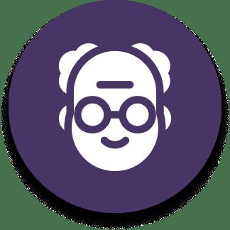 grandfather icon purple
