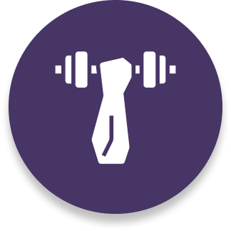 weightlifting icon purple