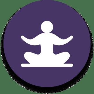 yoga purple icon